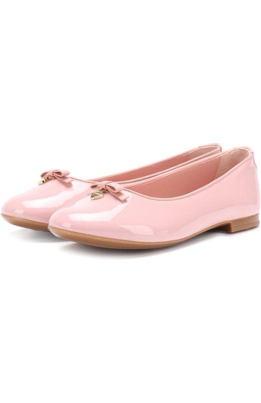 Лаковые балетки с бантом Dolce & Gabbana 0132/D10341/A1328/29-36