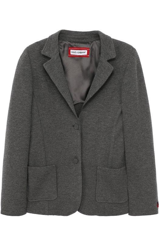 Однобортный пиджак из смеси шерсти и вискозы Dolce & Gabbana 0131/L51E80/FU79L/8-12