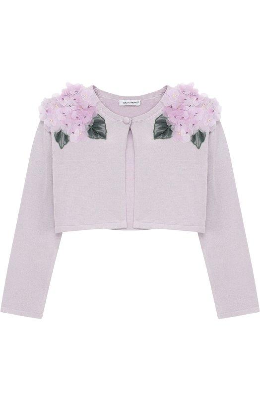 Шелковое болеро с цветочной аппликацией Dolce & Gabbana 0131/L54K26/LK3D3/2-6
