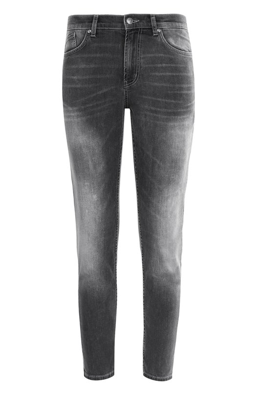 Укороченные джинсы с потертостями HUGO 50369113