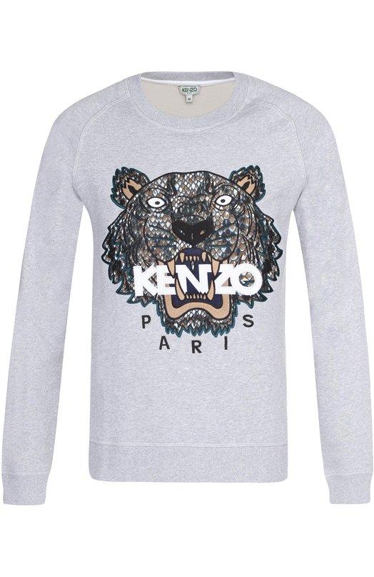 Купить Хлопковый свитшот с аппликацией Kenzo Португалия 5143146 F755SW1194XF
