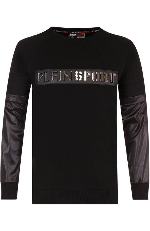 Купить Хлопковый свитшот с отстегивающимися рукавами Plein Sport Турция 5174362 F17C MJ00069 SJ0001N