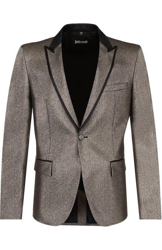 Приталенный пиджак с остроконечными лацканами Just Cavalli S01BN0108/N38764