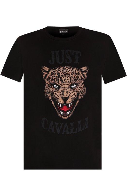 Купить Хлопковая футболка с принтом Just Cavalli Турция 5174834 S01GC0419/N20663