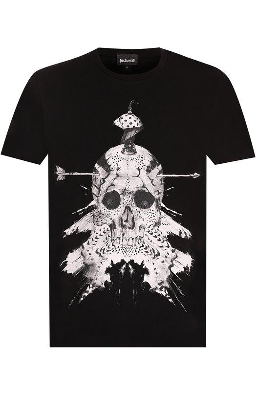 Купить Хлопковая футболка с принтом Just Cavalli Турция 5174836 S01GC0421/N20663