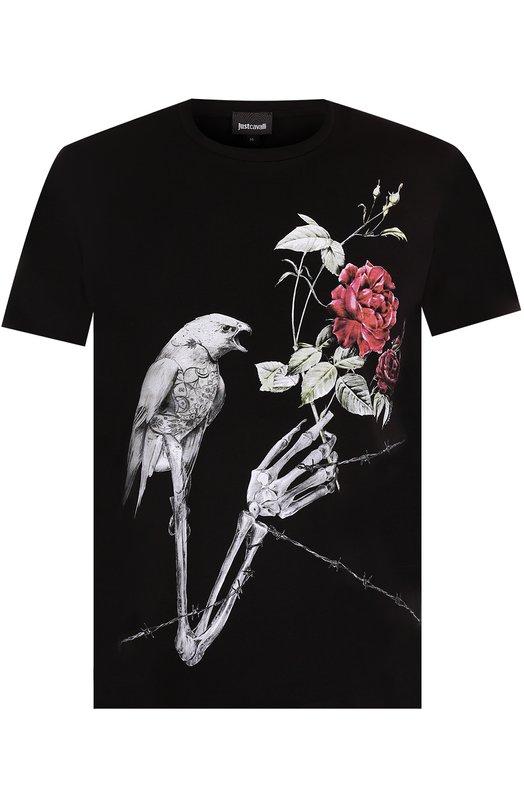 Купить Хлопковая футболка с принтом Just Cavalli Турция 5174842 S01GC0432/N20663