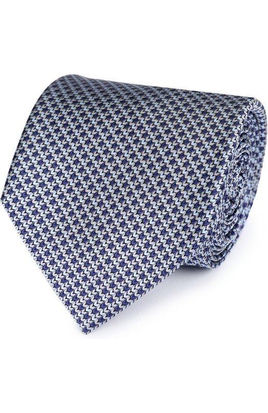 Купить Шелковый галстук с узором Brioni Италия 5176476 062I/06496