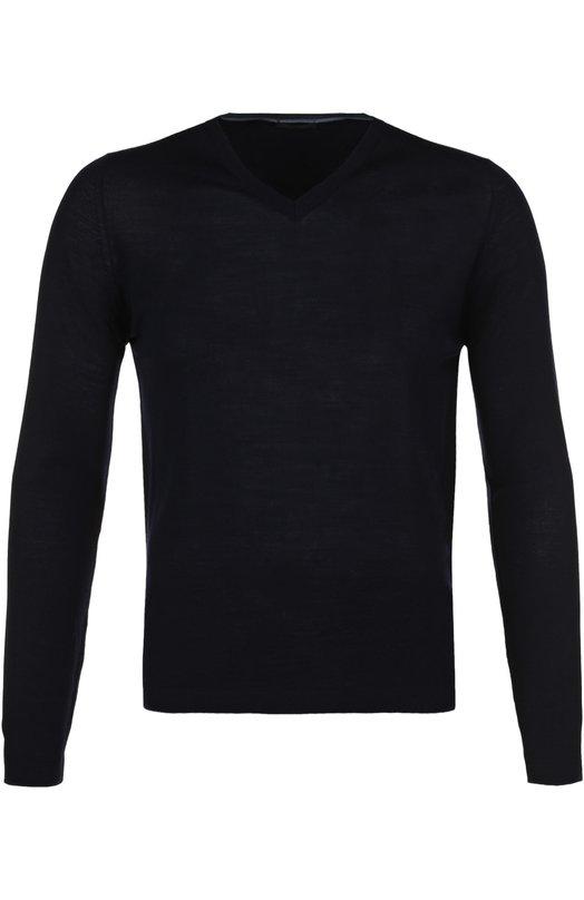 Купить Пуловер из шерсти тонкой вязки Pal Zileri, 94732/3M0/J316, Италия, Темно-синий, Шерсть: 100%;