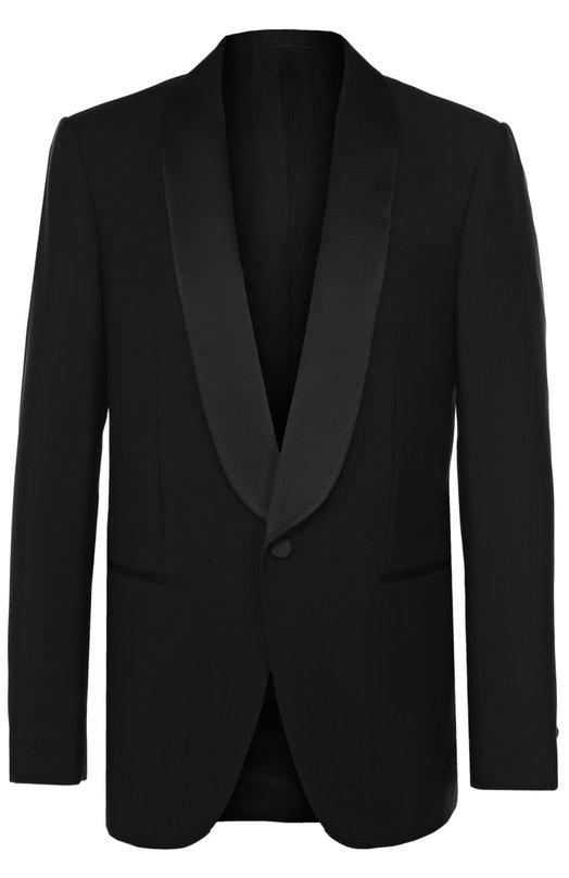 Шерстяной однобортный пиджак с шалевыми лацканами Balenciaga 459765/TAI10