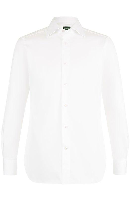 Купить Хлопковая сорочка с воротником кент Ermenegildo Zegna, 201031/9MS0BR, Румыния, Белый, Хлопок: 100%;