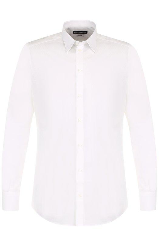 Купить Хлопковая сорочка с воротником кент Dolce & Gabbana, 0101/G5EM9T/FJ5E8, Италия, Белый, Хлопок: 100%;