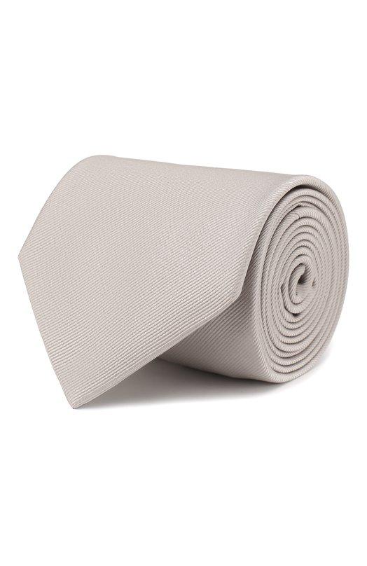 Купить Шелковый галстук Brioni, 062I/PZ418, Италия, Серый, Шелк: 100%;