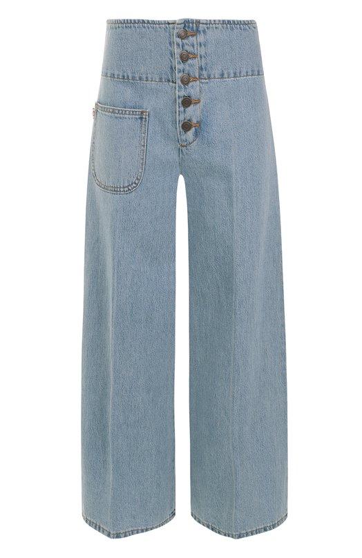 Расклешенные джинсы с потертостями и стрелками Marc Jacobs M4006921