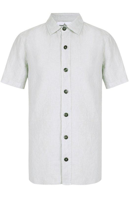 Льняная рубашка с короткими рукавами Stone Island 6615122XA