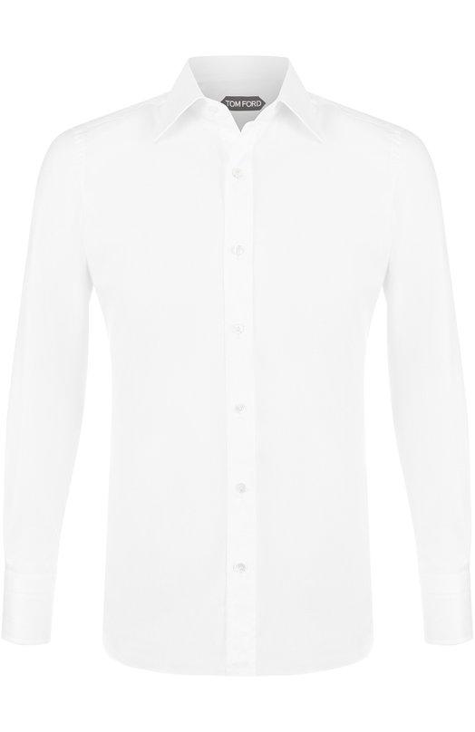 Купить Хлопковая рубашка с итальянским воротником Tom Ford, 2FT880/94S1JE, Италия, Белый, Хлопок: 100%;