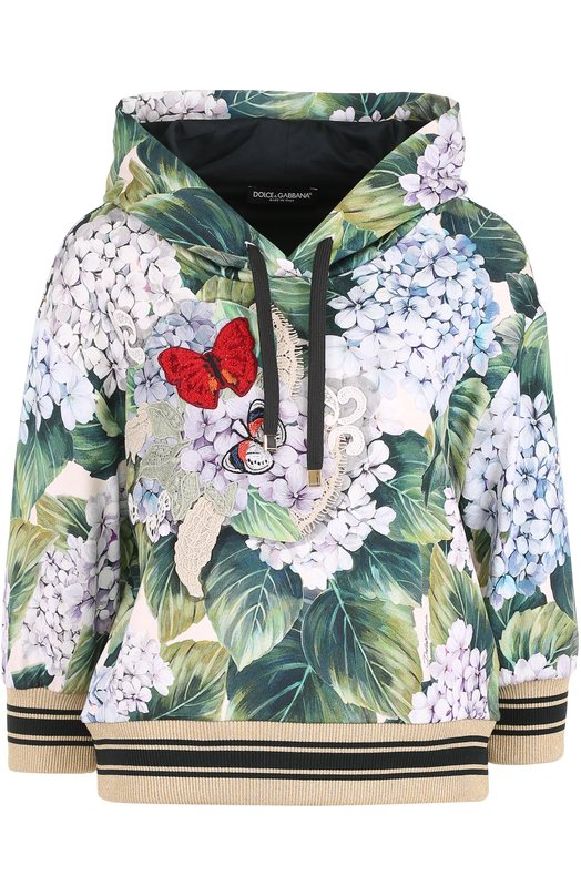 Толстовка с укороченными рукавами и принтом Dolce & Gabbana 0102/F9870Z/FS7WG