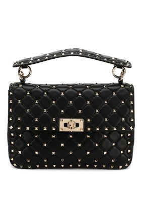 Сумка Rockstud Spike medium Valentino черная | Фото №1