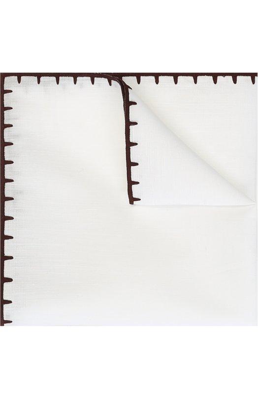 Купить Платок из смеси льна и хлопка Ermenegildo Zegna, Z2I00/37A, Италия, Белый, Лен: 60%; Хлопок: 40%;