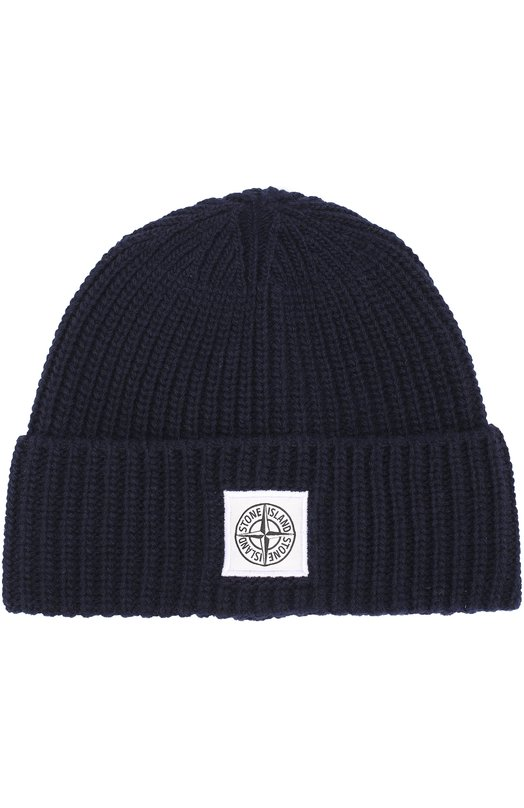 Шерстяная шапка фактурной вязки Stone Island 6715N26A7