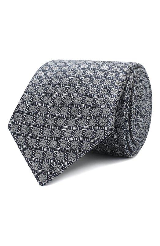 Купить Шелковый галстук с узором Brioni, 061D/0640D, Италия, Серый, Шелк: 100%;