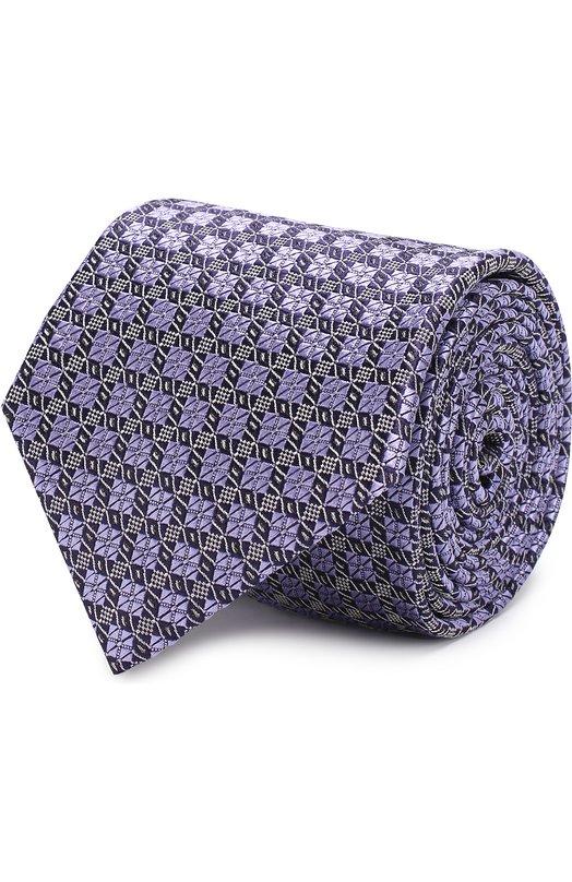 Купить Шелковый галстук с узором Brioni, 061D/0640D, Италия, Фиолетовый, Шелк: 100%;