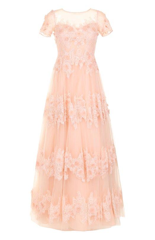 Купить Приталенное платье-макси с цветочной отделкой Basix Black Label Китай 5174493 D7433L