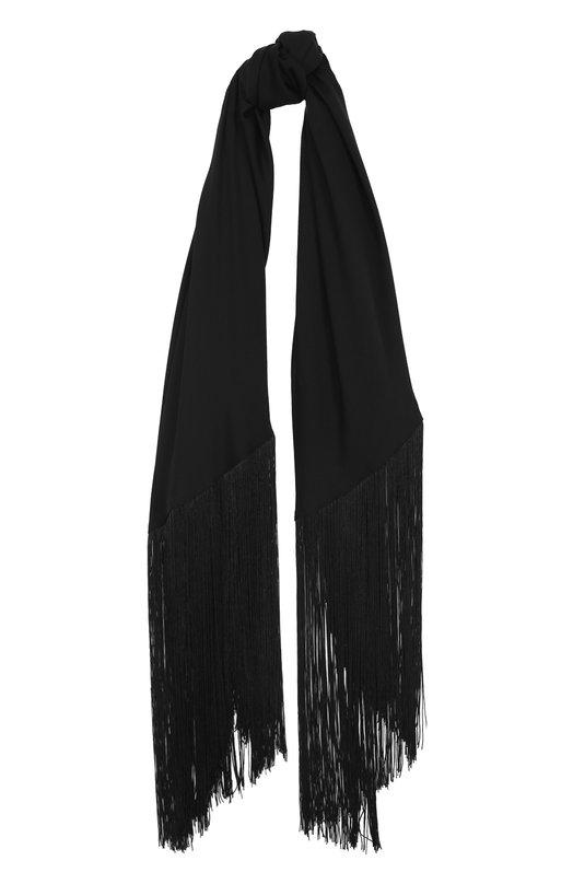 Шелковый шарф с бахромой Diane Von Furstenberg A1325240N16