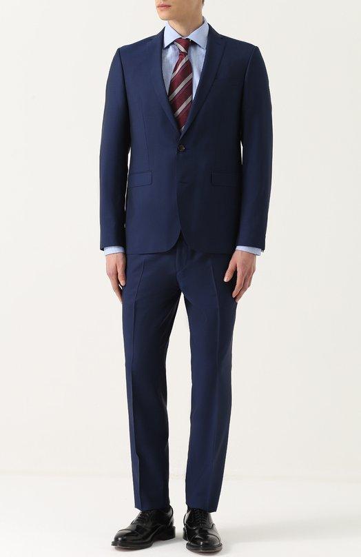 Купить Шерстяной костюм с пиджаком на двух пуговицах Sand, M0HAIR/SHERMAN-BRAND0N, Португалия, Синий, Шерсть: 84%; Подкладка-ацетат: 60%; Подкладка-вискоза: 40%; Мохер: 16%;