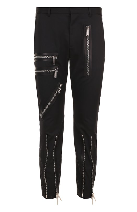 Шерстяные укороченные брюки с декоративными молниями Dsquared2 S74KB0054/S42916