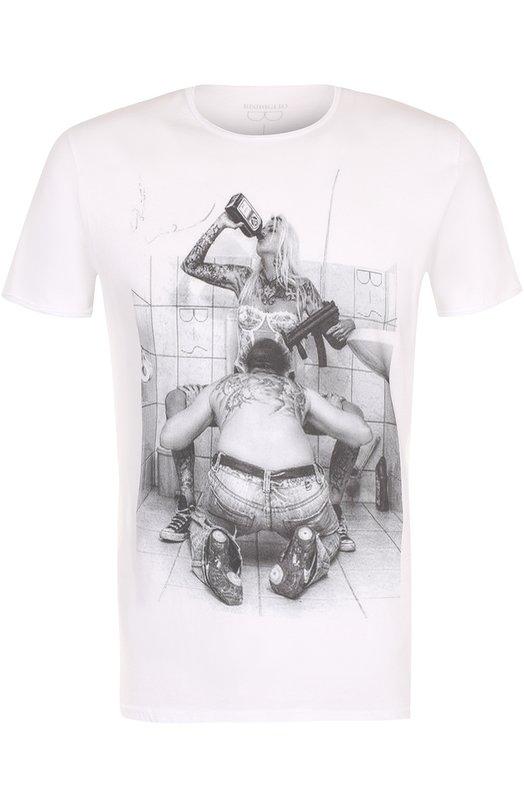 Купить Хлопковая футболка с принтом Bisibiglio Италия 5177537 M0D.STRA