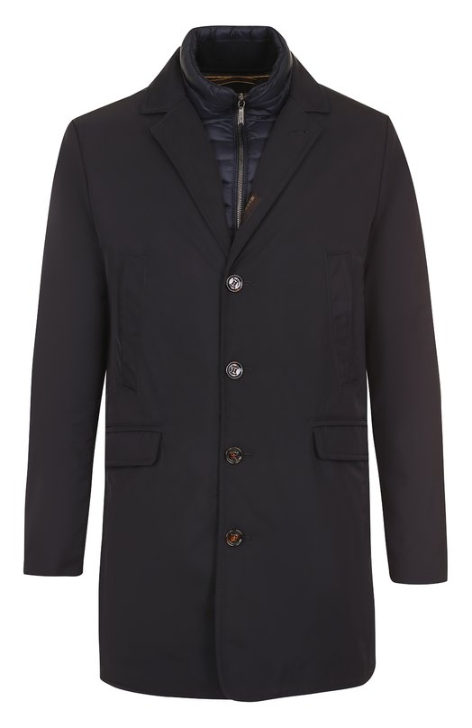 Однобортное пуховое пальто прямого кроя Moorer