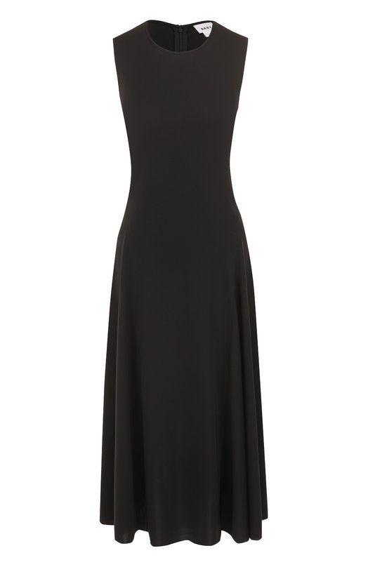 Приталенное платье-миди без рукавов DKNY, P26908L, Китай, Черный, Полиэстер: 100%;  - купить