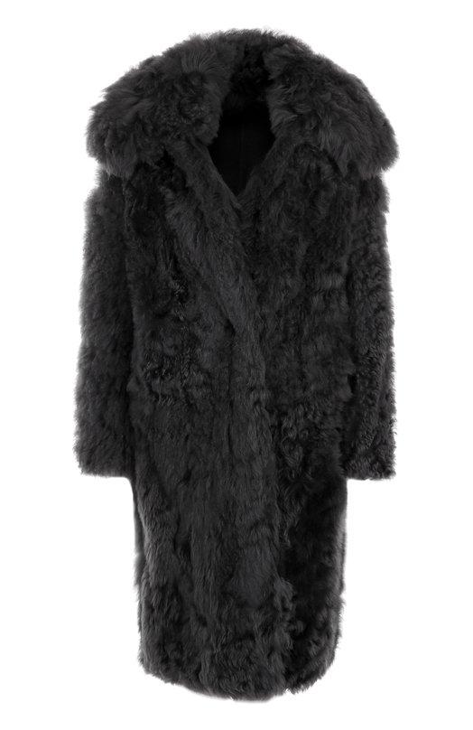 Купить Шуба прямого кроя из овчины Tom Ford, CPF627-FUX039, Италия, Темно-серый, Мех натуральный: 100%;