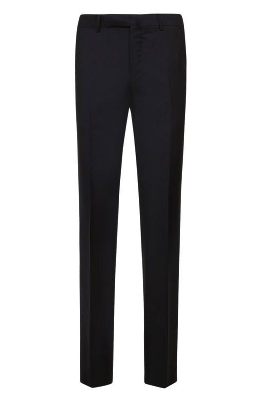 Купить Шерстяные брюки прямого кроя Ermenegildo Zegna, 219F04/75SB12, Португалия, Темно-синий, Шерсть: 100%; Подкладка-вискоза: 100%;