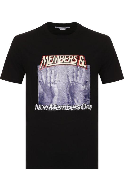 Купить Хлопковая футболка с принтом Stella McCartney, 484499/SIP25, Италия, Черный, Хлопок: 100%;