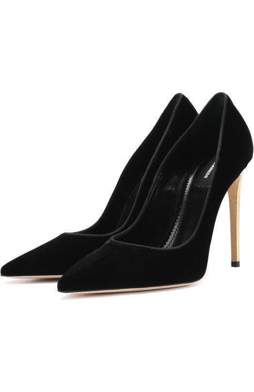 Бархатные туфли на шпильке Dsquared2 W17A508/1398