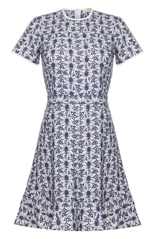 Купить Приталенное кружевное мини-платье MICHAEL Michael Kors, MU78X2F6NZ, Китай, Белый, Хлопок: 100%; Подкладка-хлопок: 100%; Отделка-полиэстер: 100%;