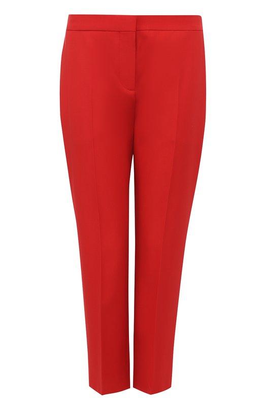 Купить Укороченные брюки прямого кроя Alexander McQueen, 460085/QIJ12, Италия, Красный, Шерсть овечья: 100%;