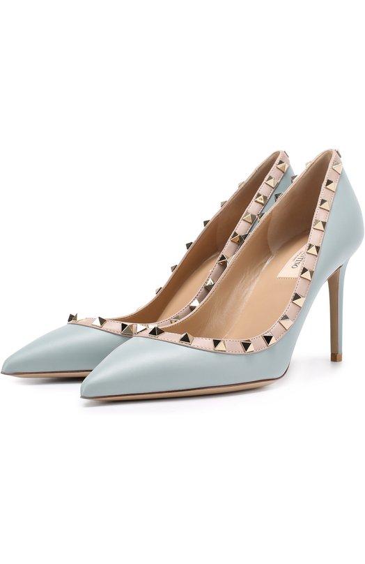 Купить Кожаные туфли Rockstud на шпильке Valentino Италия 5176276 NW2S0A04/V0D