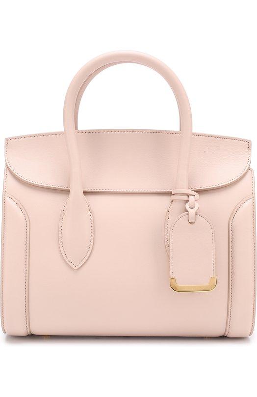 Купить Сумка Heroine Alexander McQueen, 479877/DX50M, Италия, Светло-розовый, Кожа натуральная: 100%;