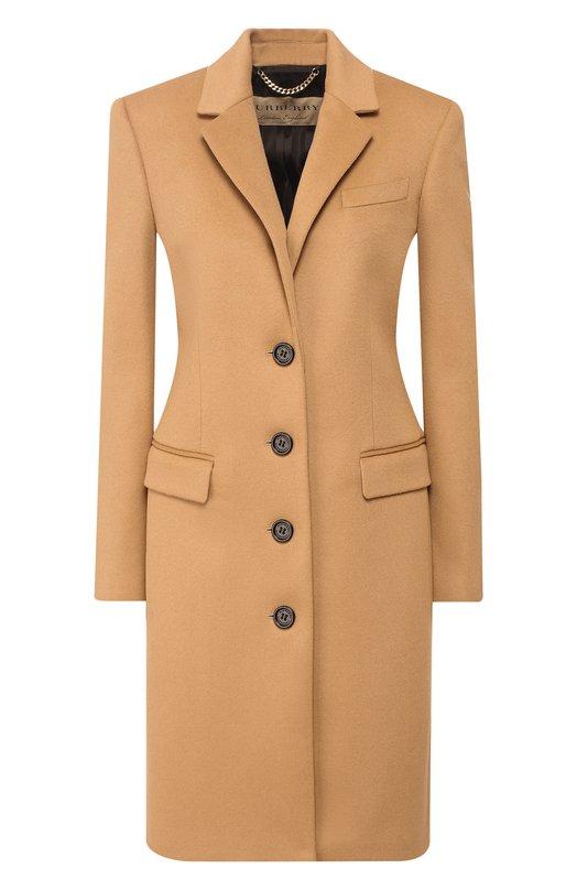 Приталенное шерстяное пальто Burberry Burberry