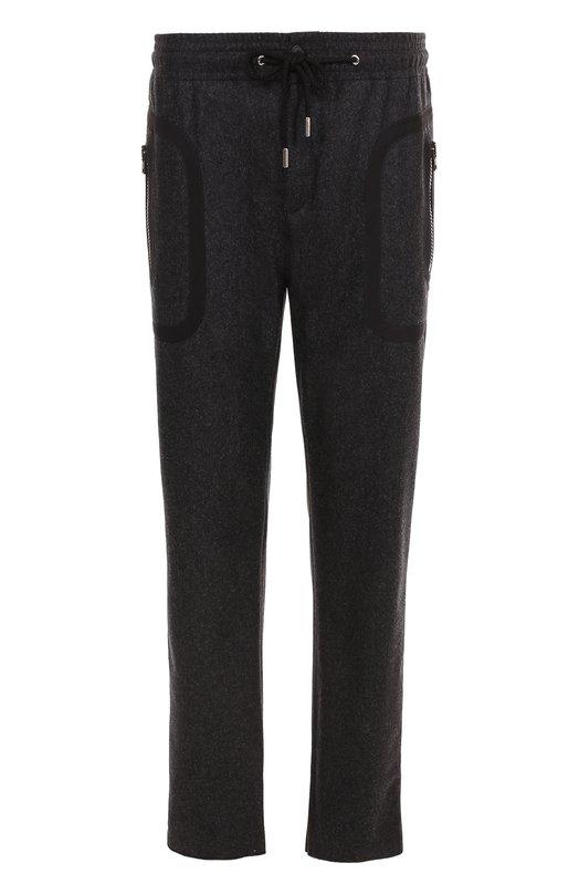 Шерстяные брюки прямого кроя с поясом на резинке Givenchy
