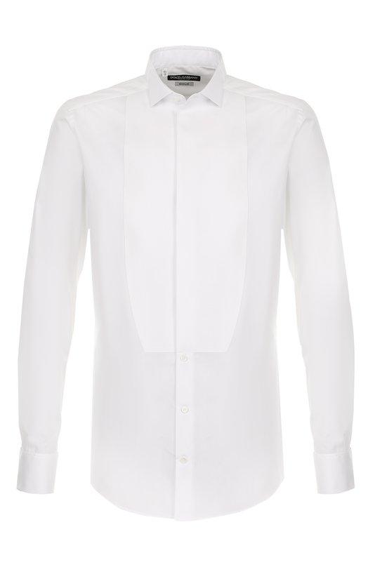 Купить Хлопковая сорочка под смокинг с воротником бабочка Dolce & Gabbana, 0101/G5EN3T/FU5GK, Италия, Белый, Хлопок: 100%;