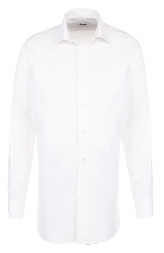 Купить Хлопковая сорочка с воротником кент Brioni, RCL9/PZ062, Италия, Белый, Хлопок: 100%;