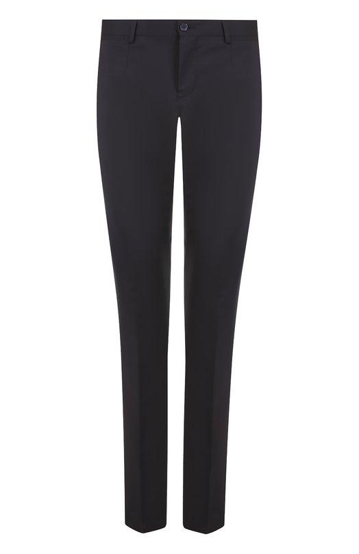 Купить Шерстяные брюки прямого кроя Dolce & Gabbana, 0101/GY10MT/FUBBG, Италия, Темно-синий, Шерсть: 97%; Эластан: 3%; Подкладка-вискоза: 100%;