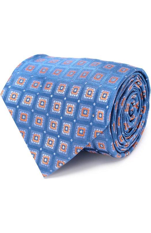 Купить Шелковый галстук с узором Kiton Италия 5179006 KLC05E24