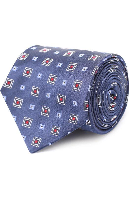 Купить Шелковый галстук с узором Kiton Италия 5179007 KLC05E38