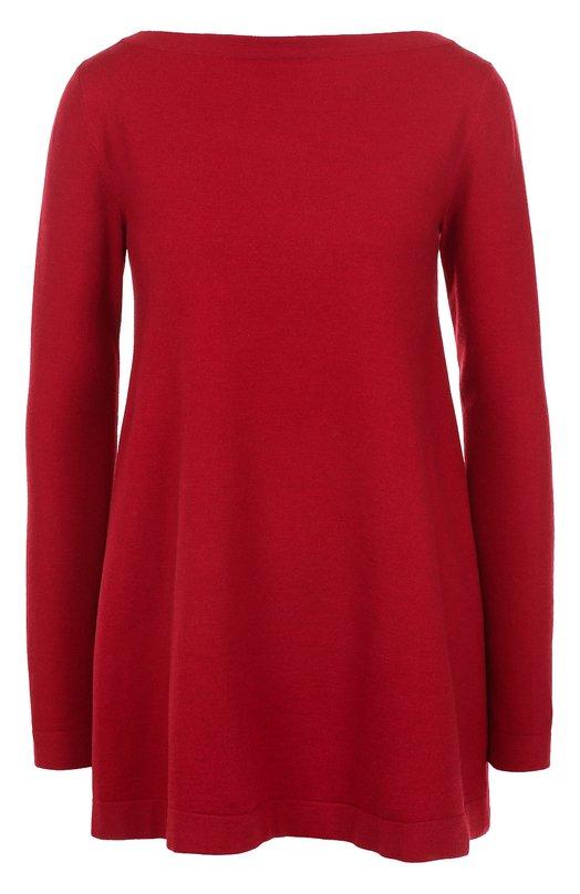 Пуловер свободного кроя с вырезом-лодочка Alaia. Цвет: красный