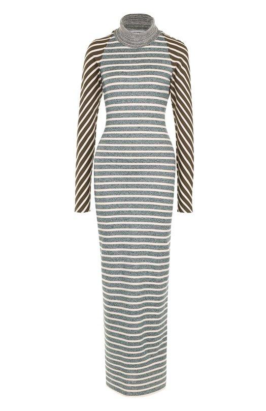 Купить Хлопковое платье в полоску с длинным рукавом и открытой спиной Walk of Shame, D009-PF17, Россия, Разноцветный, Хлопок: 100%;