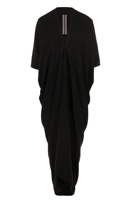 Купить Платье свободного кроя с V-образным вырезом Rick Owens Италия 5175425 RP/17F7526/Y